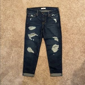 Hollister Low Rise Distressed Boyfriend Jeans